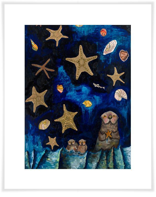 Starfish Bedtime Stories - Paper Giclée Print