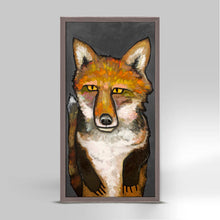 "Load image into Gallery viewer, Super Fox on Gray Mini Print 5""x10"""