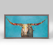 "Load image into Gallery viewer, Swinging Tail Longhorn Mini Print 10""x5"""