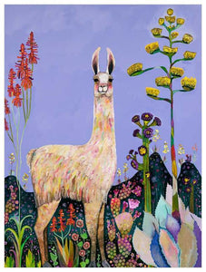 Tall Girl in Lavender - Canvas Giclée Print