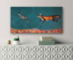 The Chase - Canvas Giclée Print