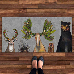"The Forest Five 40""x20"" Floorcloth"