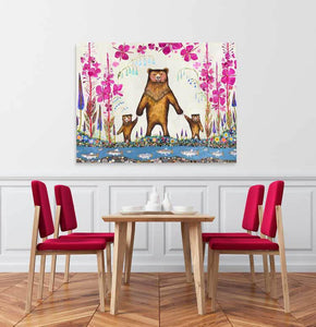 Mama Bear - Canvas Giclée Print