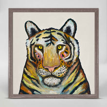 "Load image into Gallery viewer, Tiger on Cream Mini Print 6""x6"""