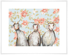 Load image into Gallery viewer, Trio of Goats Floral - Canvas Giclée Print