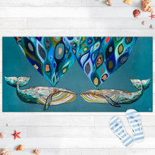 "Load image into Gallery viewer, Whales Power Spray 40""x20"" Floorcloth"