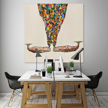 Load image into Gallery viewer, Whale's Spray - Canvas Giclée Print