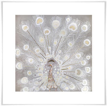 Load image into Gallery viewer, White Velvet Peacock - Canvas Giclée Print