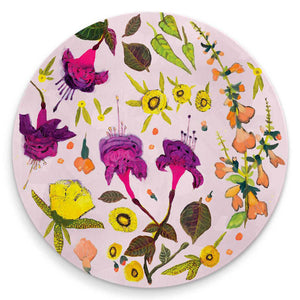 Wildflowers - Sundrops, Sage & Fuschias Coaster SHIPS MAY 3, 2021