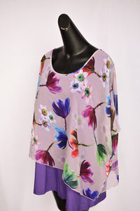 Purple Merric floral top, size 18