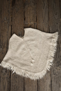 Beautiful mohair cream poncho, one size