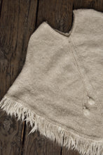Load image into Gallery viewer, Beautiful mohair cream poncho, one size