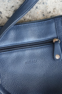 Milleni Italian navy leather bag