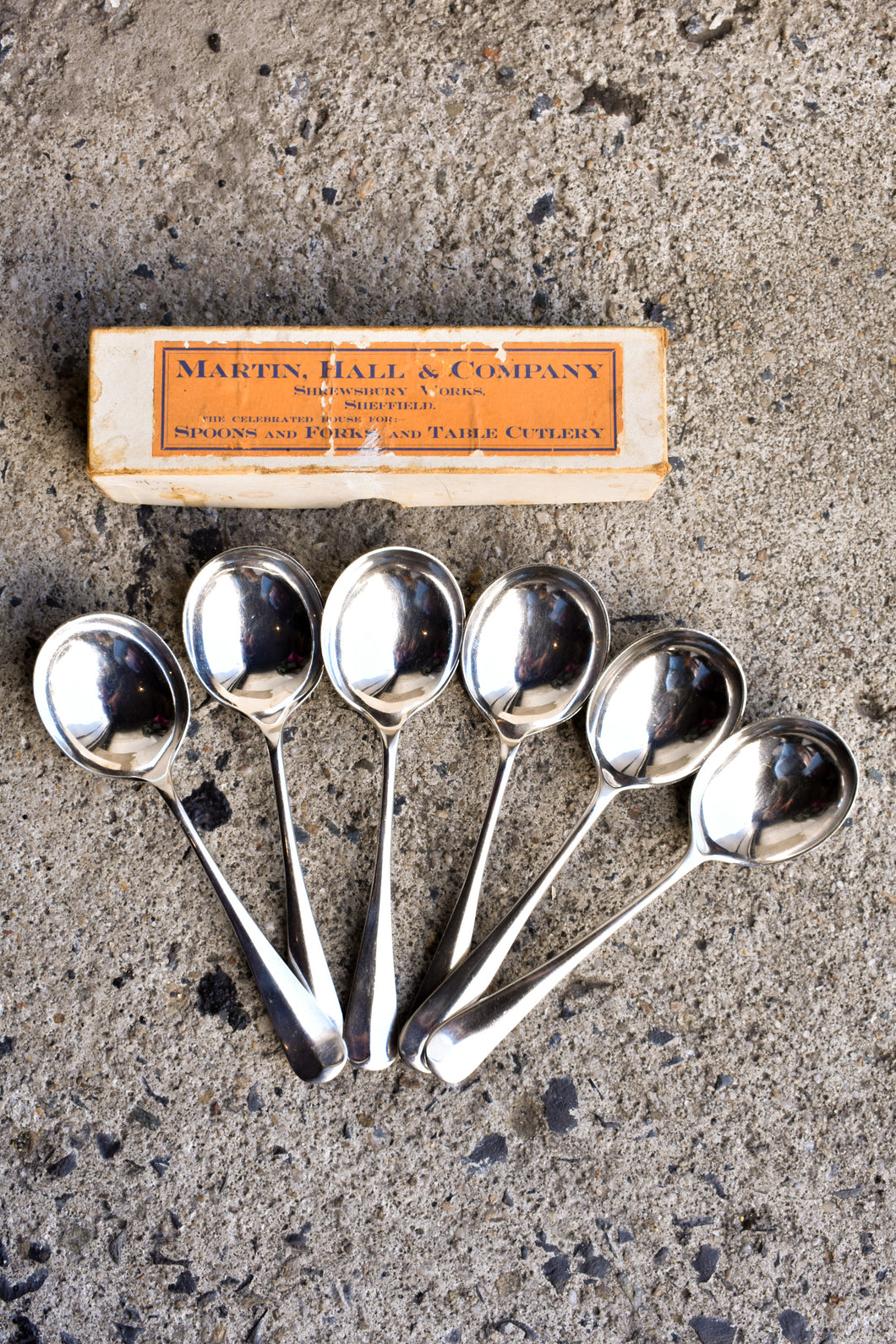 Martin, Hall & Company Set of 6 Dessert Spoons