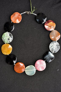 Colourful chunky stone necklace
