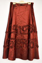 Load image into Gallery viewer, TOAT red shiny long skirt, size 14
