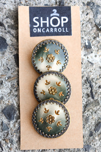 3x stunning vintage buttons