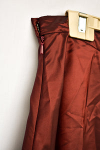 TOAT red shiny long skirt, size 14