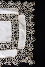 Load image into Gallery viewer, Set of 2 delicate vintage lace cloths