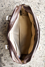 Load image into Gallery viewer, 70SUP brown and white duffel/day bag
