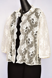 Frankie lace button up top, size (retro) 14