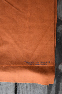 Rust brown vintage viyella fabric, 90cm x 5.25m