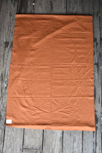 Load image into Gallery viewer, Rust brown vintage viyella fabric, 90cm x 5.25m