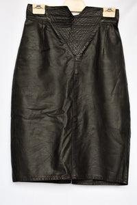 Zucci NZ vintage leather skirt, size 12 (vintage)