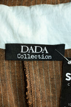 Load image into Gallery viewer, DADA brown and baby blue shirt jacket, size M/OSFM