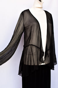 Stunning Kingan Jones sheer silk top, size 10