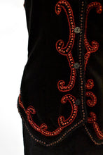 Load image into Gallery viewer, Vintage funky beaded vest, size S