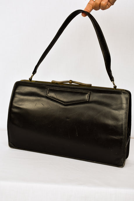 Westcraft black leather vintage handbag
