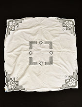 Load image into Gallery viewer, Vintage linen white square tea/table cloth