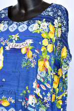Load image into Gallery viewer, Blue Illusion silk patterned top, size 3XL