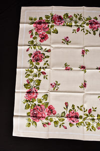 Rose printed square tablecloth, 1.3m