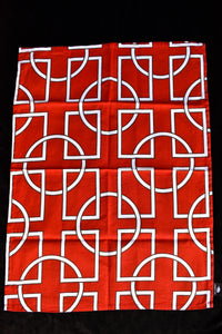 Madras Link red and white tea towel (modern)