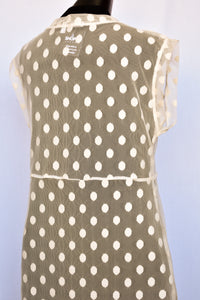Top Stitch mesh polka dot dress, size L