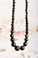 Load image into Gallery viewer, Vintage black (glass or possibly French Jet) beaded necklace