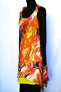 Orange and pink dress, size M