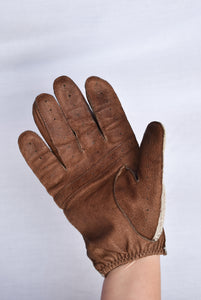 Dents Mens leather and cotton gloves, size S/M