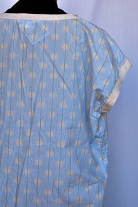 Trenery light blue cotton tee, size S
