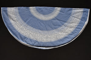 Circular cotton tablecloth and 4x napkins