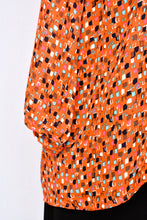 Load image into Gallery viewer, Orange patterned top, size 12
