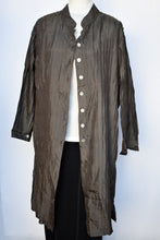 Load image into Gallery viewer, Silk pleated button up dress/jacket, size L