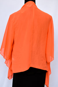 Orange pleated kimono, size M