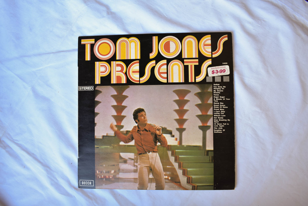 Tom Jones 'Presents' vinyl