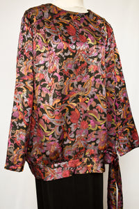 Retro pattern top, size M