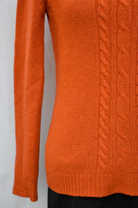 Rust orange cable knit jumper, size S