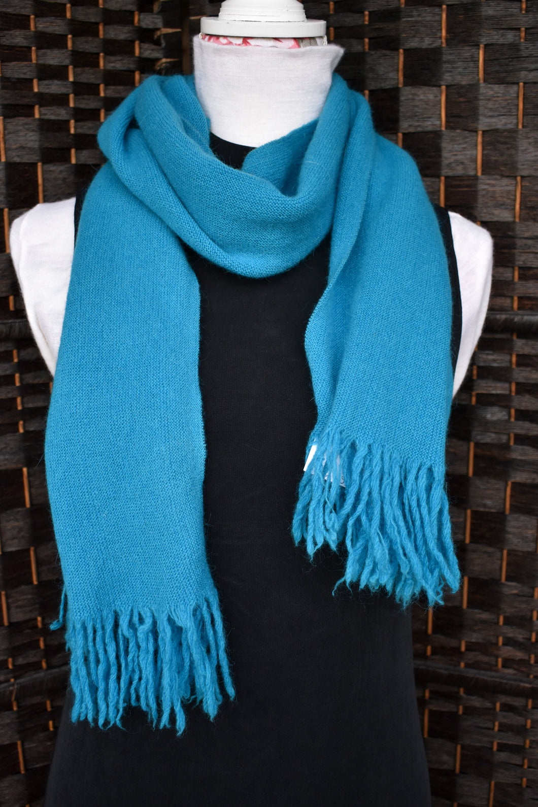 Simple turquoise scarf