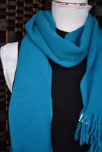Load image into Gallery viewer, Simple turquoise scarf